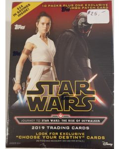 Star Wars Journey to The rise of Skywalker Blaster Box 10 packs + 1 patch