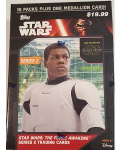 Star Wars The Force Awakens Series 2 Blaster box 10 packs + 1 medallion
