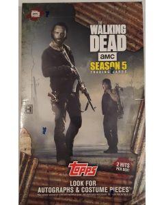 Topps Walking dead Season 5 trading card box