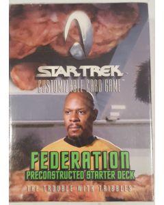 star trek CCG Federation Trouble w/tribble starter Deck 60 cards