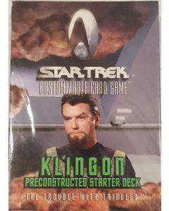 Star Trek CCG Klingon Starter Deck Trouble w/tribbles 60 card deck