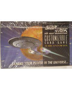 Star Trek Beta next generation Booster Box white border 36 pk 15 cards.