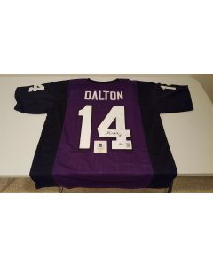 Full Size TCU Andy Dalton Jersey with Auto Certified by Beckett