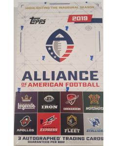 2019 AAF  Football Box Alliance of American Football Igaugural season box, 3 autos