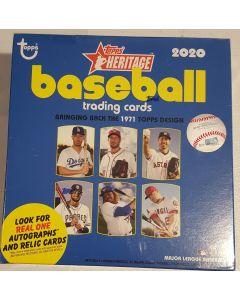 2020 Heritage Mega Box 15 packs w 1 3 card chrome pack