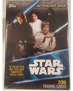 Star Wars Skywalker Saga Blater Box 10 packs + 1 Nameplate patch card