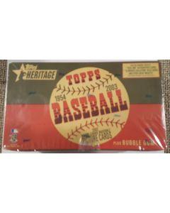 2003 Heritage Baseball Hobby Box 24 pks,   1 hit  auto or jersey