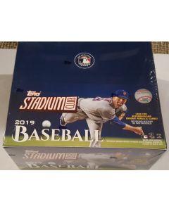 2019 Stadium Club Baseball Retail 24 pk Box
