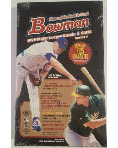 1999 Bowman Series 1 Box 24 packs, 1 bowman international card per pack no hit guaranteed.