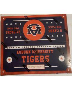 2016 collegiate auburn university tigers hobby box 24 pk 8 cards per pack
