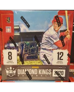 2020 FOTL Diamond King Baseball box 12 packs, 1 auto #20 1 patch #20 and 1 framed wood card #13.   1 sp/ pack