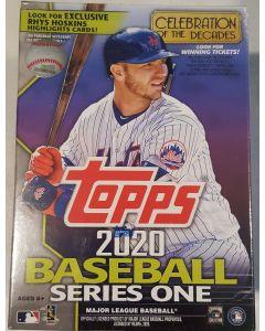 2020 Topps Series 1 Blaster box (Walmart) 7 packs + 1 RC Medallion per box Hoskins Highlights