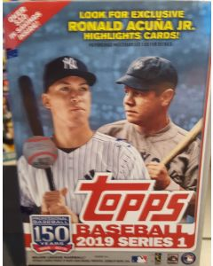 2019 Topps Series 1 Blaster Box 7 packs + 1 comm. patch card