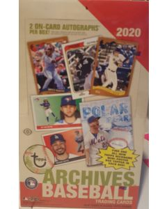 2020 Topps Archives Hobby Box 24 packs 2 on card Autos per box  and mini poster