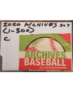 2020 Topps Archives Baseball Set (1-300)   1955, 1974, 2002 style cards  No SP's