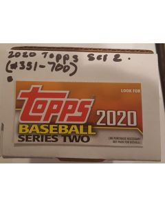 2020 Topps Series 2 Set (351-700) includes Robert RC #392