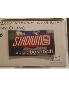 2020 Stadium Club Set (1-300) Includes all RC's  no sp this year.  Robert, Lux, Bichette, Alvarez and More