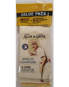 2020 Topps Allen & Ginter Cello Pack 3 pk with 5 Gold parrallel Mini's Walmart