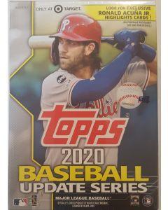 2020 Topps Update Blaster box 7 pks + 1 Medallion card + exclusive Ronald Acuna jr highlights