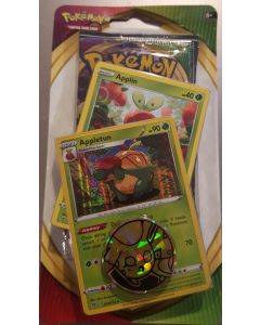 Pokemon Vivid Voltage Applin,Appletun single booster set (1pk + 2  cards +token)