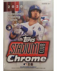 2020 Stadium Club Chrome Blaster 6 packs 4 cards Plus (Bonus 4 card pack of xfractors)