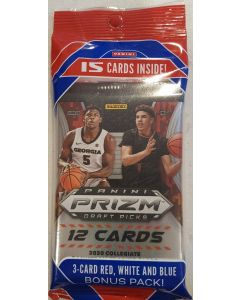 2020 Prizm Basketball Draft Cell w/ 1 pack of Red, white & Blues Parallels