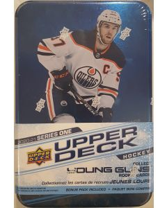 2020/21 Upper Deck UD Hockey Series 1 TIN (bonus pack of O-Pee-Chee Glossy RC 3cards)