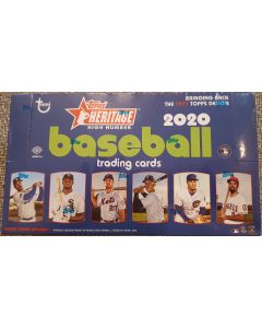 2020 Heritage High Number Hobby 24 pk 1 auto/relic per box on average