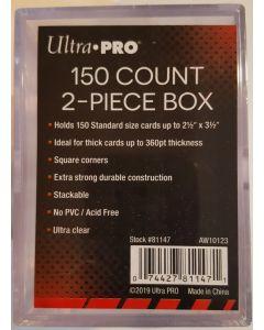 Ultra Pro 2-pc 150 Ct clear storage box