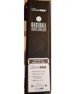 "Ultra Pro Binder 3"" Black Baseball (D-Ring)"