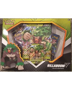 Pokemon RillaboomV Galar Partners box set 4 pks (evolution,cosmic eclipse, 2xsword/shield)