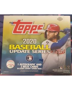 2020 Topps Update Jumbo Hobby 10 Packs 46 cards a pack 1 auto + 2 Other relics per box on average