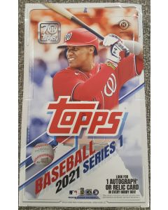 2021 Topps Series 1 Hobby Box 24 packs 1 auto or Relic per box on average