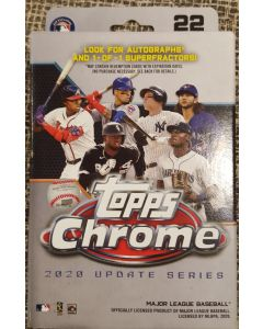 2020 Topps Chrome update Hanger box 22 cards w/2 pink wave parallels