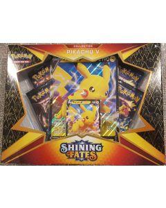 Pokemon Shining fates Pikachu V Collection box 4pk + special foil/jumbo/foil