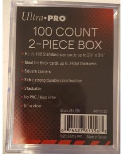 Ultra Pro 2 piece 100 CT slider Box