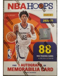 2021 nba Hoops Blaster Box 11 packs 8 cards find 1 auto or relic card per box on average
