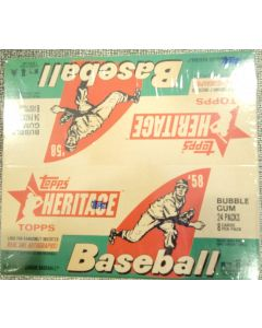 2007 Heritage Retail 24 pack box 8 cards per pack Plus Gum