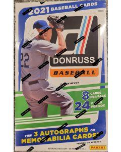2021 Donruss Baseball Hobby Box 24 packs 8 cards 3 auto/relic box on average