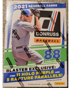 2021 Donruss Baseball Blaster Box, 11 packs 8 cards a pack