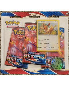 Pokemon Eevee Battle Styles 3pk blister carded
