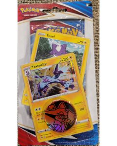 Pokemon Toxtricity/Toxel Battle Styles Carded 1 pk + 2 cards/1token