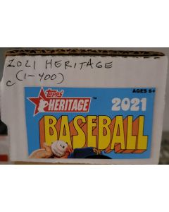 2021 Heritage Set (1-400) Complete    (no card 216 Cavin Biggio)