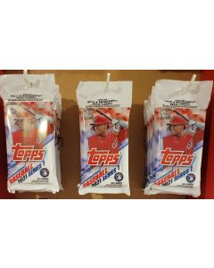 2021 Topps Fat Packs (3 pack Lot)  3 40 card  Packs from Grocery store display