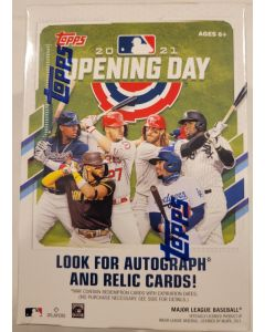 2021 Topps opening Day Blaster 11 packs of 7 cards look for autographs and relics
