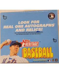 2021 Heritage Retail 24 pk box 9 cards a pack  look for autographs and relics