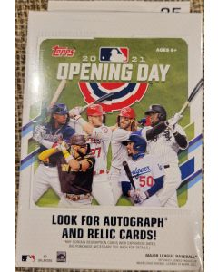 2021 Topps Opening Day Hanger box 5 packs (35 total cards)