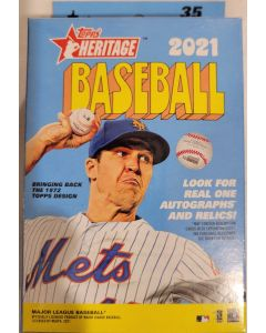 2021 Heritage Hanger box  35 cards per box