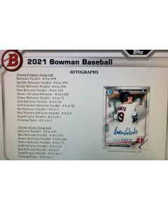 2021 Bowman Jumbo 1 box Random Team Break  RT#4