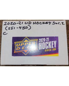 2020-21 UD Hockey Set (251-450)  (no sp's)